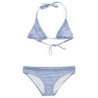 Light blue smocked 2-piece swimsuit CHRISTIAN DIOR Blue