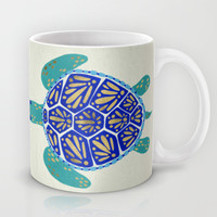 Sea Turtle Mug by Cat Coquillette