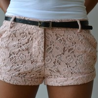 Piace Boutique - Sweet Lace Shorts (2 colors) in Bottoms