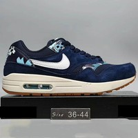 Nike WMNS Air Max 1 Print 87 Running Sport Casual Shoes Sneakers Sapphire G-A0-HXYDXPF