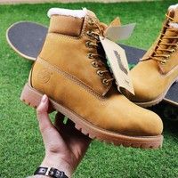 PEAPNW6 Sale Timberland Wool Waterproof Soft Toe Boots Wheat Color