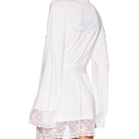 Wildfox Couture Intimates Here Comes The Bride Dressing Robe in White