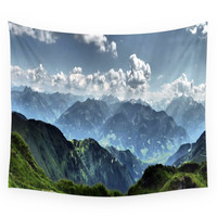 Society6 Mountain Peaks In Austria Wall Tapestry