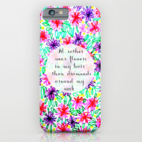 Flowers in my hair iPhone & iPod Case by Sreetama Ray