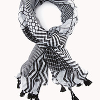 No Grey Area Geo Scarf | FOREVER 21 - 1000129695
