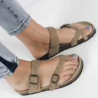 Say My Name Sandal - Taupe