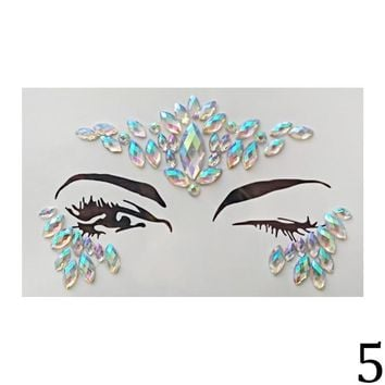 Jewels Festival Party Body Glitter 3D Stickers Adhesive Face Gems Rhinestone Temporary Tattoo The Flash Temporary Tattoos Sticke