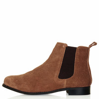 MONTH Suede Chelsea Boots - Tan