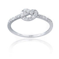 Icz Stonez Sterling Silver Cubic Zirconia Love Knot Promise Ring   Overstock.com Shopping - The Best Deals on Cubic Zirconia Rings