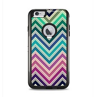 The Vibrant Colored Chevron Layered V4 Apple iPhone 6 Plus Otterbox Commuter Case Skin Set
