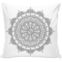 Quirky mandala couch pillow