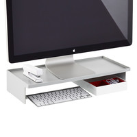 Grey Poppin Monitor Stand