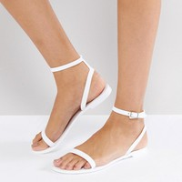 ASOS FELINE Jelly Flat Sandals at asos.com