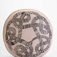 Magical Thinking Ouroboros Pillow- Taupe One