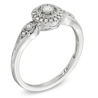 1/8 CT. T.W. Diamond Frame Ring in Sterling Silver