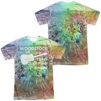 Woodstock On the Hill White Poly T-Shirt (Front & Back Print)