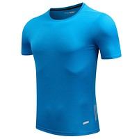 Men Designer Quick Dry T-Shirts Running Slim Fit Tops Tees Sport Men 'S Fitness Gym T Shirts Muscle Tee