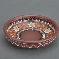Little clay plate handmade ceramic dish kitchen decorating ideas eco friendly