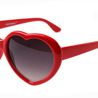 Vintage 60's Retro Red Heart Shaped Sunglasses
