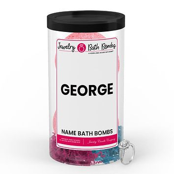 GEORGE Name Jewelry Bath Bomb Tube