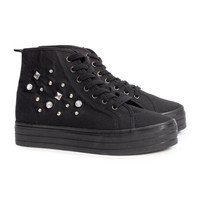 Platform sneakers with rivets - from H&M