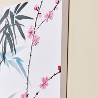 Water Color Bamboo Canvas Art