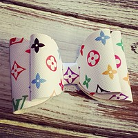 LV Inspired Leather Bow