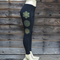 Sacred Geometry Trio Leggings - Sacred Geometry - Metatron's Cube - Flower of life - Seed of Life -Yoga Wear