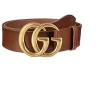 NWT Gucci Belt running gold leather Size 95