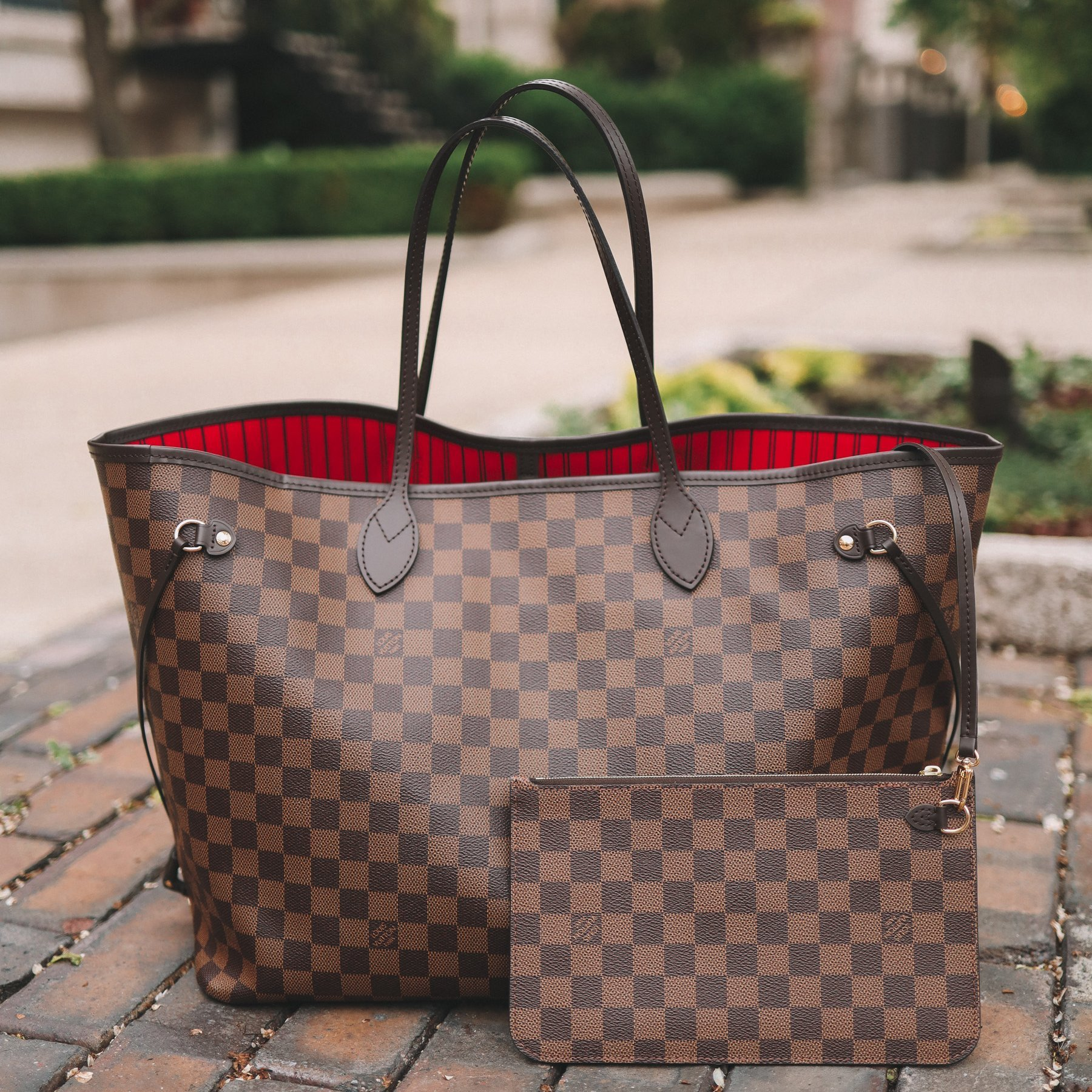 Image of LV Louis Vuitton classic versatile large-capacity shopping bag mother bag two-piece