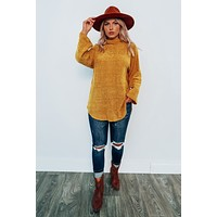 Close To Home Sweater: Mustard