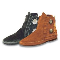 Minnetonka Womens Two Button Moccasin Boots - Womens Moccasins at Moccasins