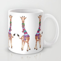 Cold Outside - cute giraffe illustration Mug by Perrin Le Feuvre