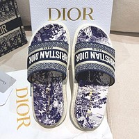 Christian Dior early spring new jacquard embroidery sandals Shoes