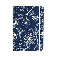 """Laura Nicholson """"Passion Flower"""" Navy Floral Everything Notebook"""