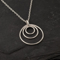 Sterling Silver Necklace Silver Circles by Artulia on Etsy