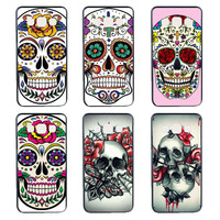 Flowers Crystal Skull Head phone Case for Samsung Galaxy A3 A5 A7 J1 J5 J7 cover hard plastic coque
