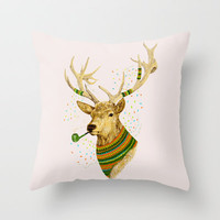 WONDER DEER II Throw Pillow by dogooder