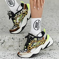 Nike M2K Tekno Fashion New Hook Leopard Print Couple Sports Leisure Running Shoes
