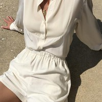 Vintage Cream Brooks Brothers Silk Blouse