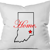 Personalized throw pillow.  ANY STATE/CITY.  Home decor.