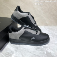 HCXX N1013 A-Cold-Wall x Nike Air Force 1 AF1 ACW Low Leather Skate Shoes Black