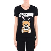 Moschino Playboy And the Rabbit Head Short Sleeve T-Shirts-1