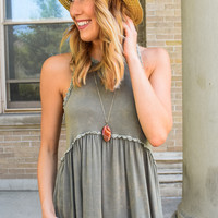 Weekend Forever Tank Olive