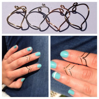 Chevron Midi Ring Value Pack with Assorted Colors