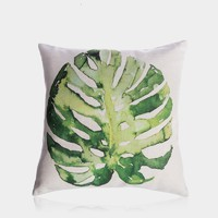 """Monstera Leaf Pillow Cover 18"""" x 18"""""""