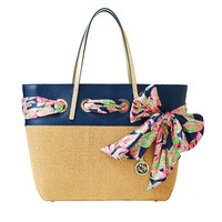 Lilly Pulitzer Straw Resort Tote