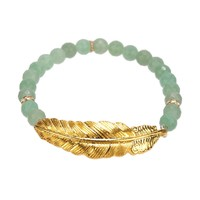 Bee Charming Jewelry Beaded Feather Bracelet