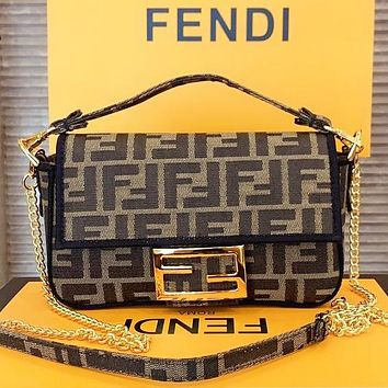 Fendi New fashion more letter canvas shoulder bag crossbody bag handbag