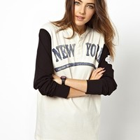47 Brand New York Mets Athletic Henley Exclusive To ASOS